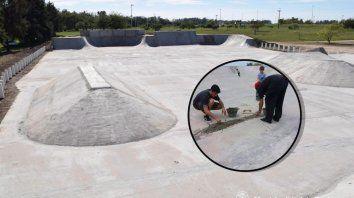 Cuando la Municipalidad de Gualeguay termine la pista será una de las más lindas de Entre Ríos.