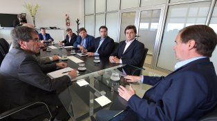 Reunión. Bordet habló con legisladores sobre el destino de los fondos.