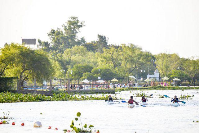 El verano 2018 con un río caudaloso.