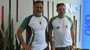 En la organización. Sergio Bruzzoni y Luciano Barbagelata trabajan junto a un gran grupo de personas.