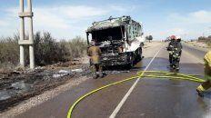 le quemaron el camion porque no quiso adherir al paro