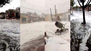 VIDEOS: Granizo enorme castigó el sur de Córdoba