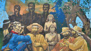 Temática. Una docena de piezas de tipo mural retratan el espíritu de la gesta por la Patria Grande.