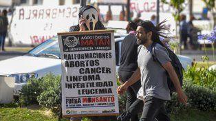 Marcha para frenar la fumigación con agrotóxicos en Entre Ríos. Archivo/21/11/2017.