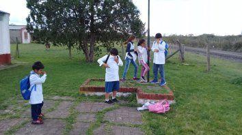 Así reaccionaron el septiembre los chicos de la escuela N° 110 Batalla de Don Gonzalo, Villa Álvarez, Yeso Oeste en el departamento La Paz.