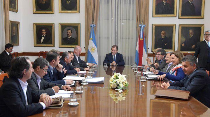 Bordet encabezó un encuentro de trabajo para el Departamento Federación.