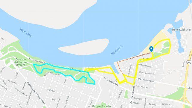 El mapa cuenta con la aprobación del Ministerio de Transporte de la Nación.