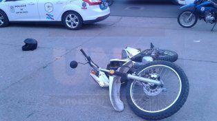 Persecución violenta. Los dos ladrones intentaron esquivar la acción de la policía.