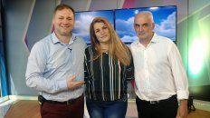 Horacio Moglia junto a Roberto y Manuela