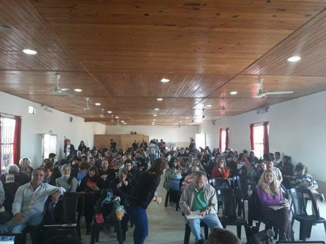El congreso sesionó en el salón del Club Social y Deportivo Fluvial de Ibicuy.