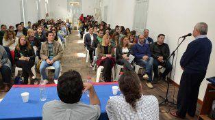El acto inaugural en la Escuela de Educación Técnica N° 1 Ana Urquiza de Victorica.