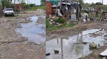 Las calles de Capibá siempre se inundan y el agua tarda en irse.