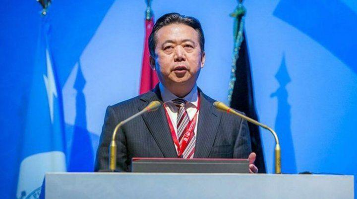 Interpol afirmó este domingo que recibió la renuncia de su presidente chino Meng Hongwei