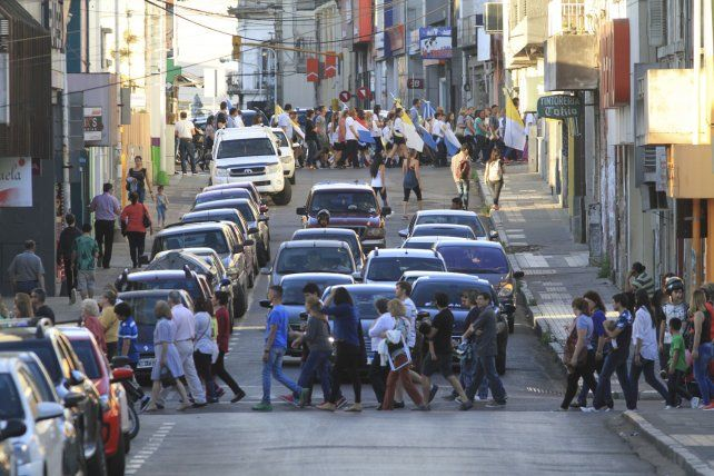 La peregrinación ocupó las calles de Paraná.