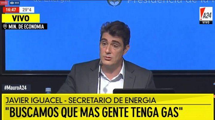 Iguacel defendió los aumentos del gas y el cobro de las cuotas extras