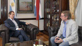 Bordet analizó el proyecto de presupuesto con uno de los diputados nacionales entrerrianos.