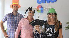 Fernando Fornero, José Ugalde, Silvina Grenat y el pequeño Nahir Taleb invitaron a todos a participar de la fiesta