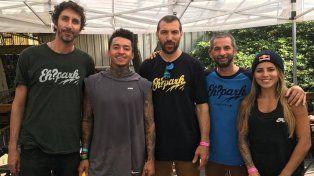 Sebastián Vellón, Nyjah, Pato Barreto, Diego Maneiro y Leticia Bufoni.