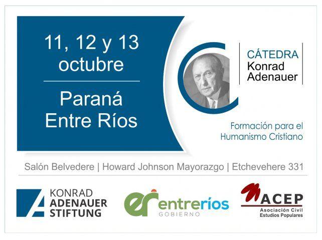 La Konrad Adenauer realizará su XIº Cátedra Abierta en Paraná