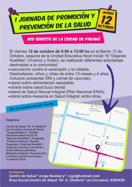 Vacunación y prevención de salud en el sureste de Paraná