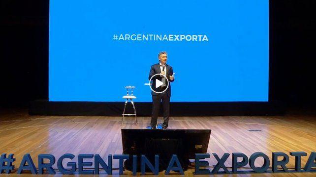 En Argentina Exporta, Macri dijo que son meses difíciles y de prueba