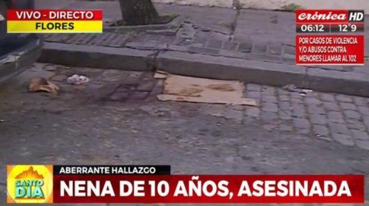 Conmoción en Flores: Una madre degolló a su hija de 9 años en plena calle