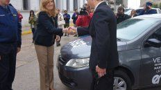 Acto en Gualeguay. La ministra de Gobierno y el jefe de Policía entregaron los bienes.