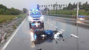 Oro Verde: Motociclista quedó inconsciente al colisionar contra un furgón