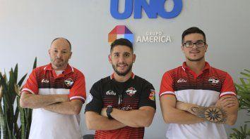 Representantes. Alejandro Fischer, Francisco Fernández y Emiliano Retamal, protagonistas de Unión Árabe.