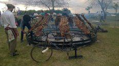 por la lluvia la fiesta del costillar de novillo a la estaca de tabossi se reprogramo para el domingo