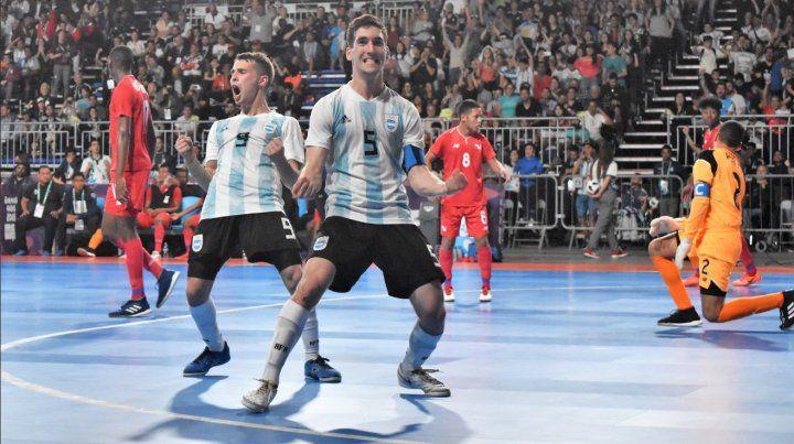 Futsal: Tras goleada a Panamá Argentina pasa a semifinales contra Brasil