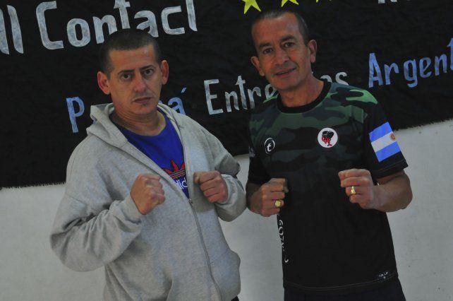 Protagonistas. Daniel Bianni (a la izquierda) junto a Carlos López