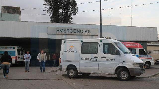 Urgente traslado. El herido fue llevado directamente al hospital San Martín.