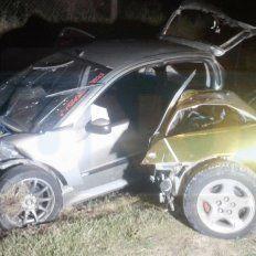 Choque en ruta 11: Colisionaron tres vehículos y varias personas fueron hospitalizadas
