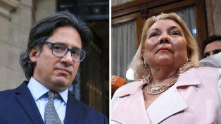 El duelo. Mientras Garavano cosechaba el respaldo de legisladores y ministros, Carrió lanzó ayer otra advertencia a la coalición gobernante.