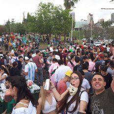 Paraná colapsada por visitantes llegados, en su mayoría, para asistir a la Fiesta de Disfraces.