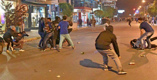Incidentes. Reportaron personas detenidas por desmanes en el contexto de la marcha nacional.