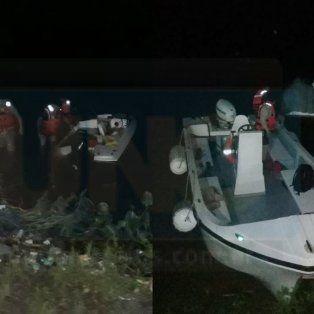 Dramático rescate. Se hundió una lancha frente a un club de Paraná