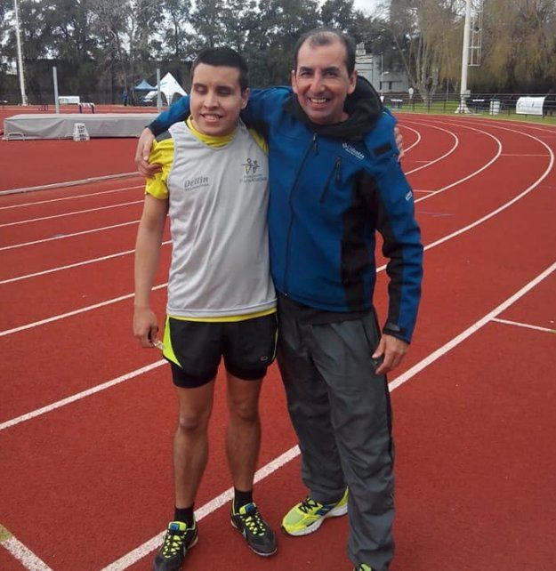 Equipo. Germán y su entrenador José María están dispuestos a alcanzar sus objetivos.