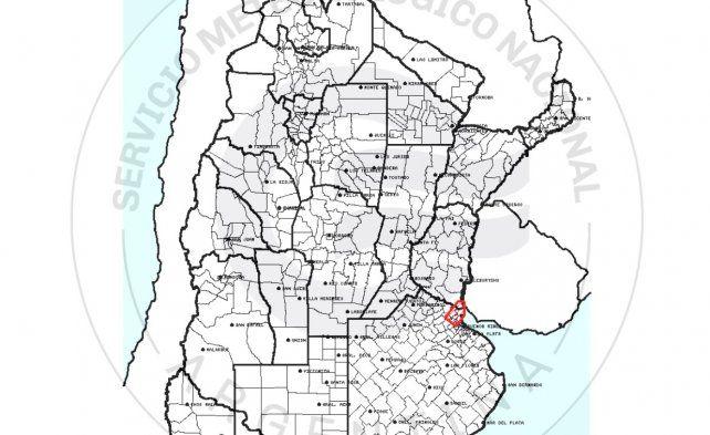 Alerta por tormentas fuertes, con ráfagas y granizo para el sur de Entre Ríos