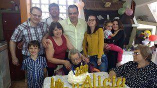 Alicia Zapata de Elizalde, la abuela centenaria