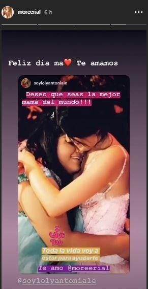 El saludo de Loly Antoniale a More Rial por el día de la madre: Toda la vida voy a estar...