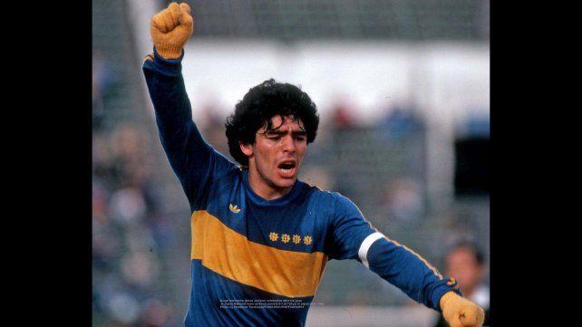 Las fotos inéditas de Maradona en Boca