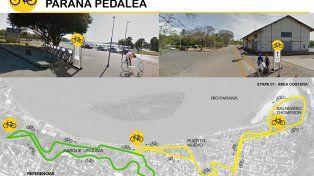 Detallaron el plan de los posibles 9K de ciclovías en Paraná
