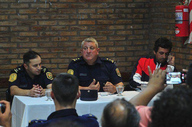 Sin el presidente. La reunión la llevaron adelante Antoniow y González.