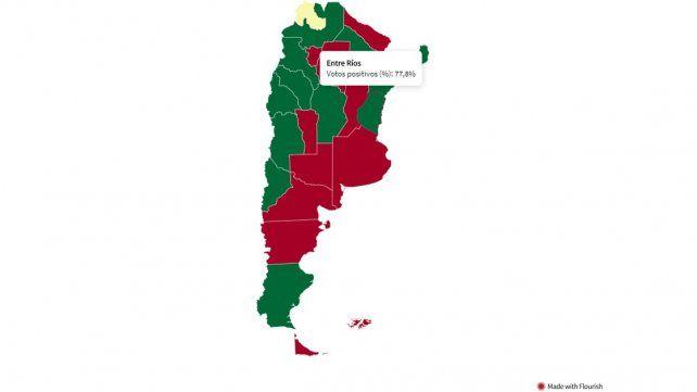 Presupuesto: de qué provincias salieron los votos