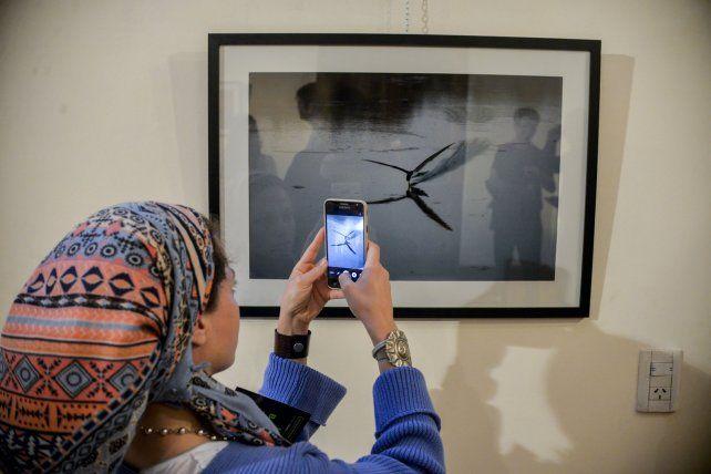 María Paula se lleva una foto de recuerdo.