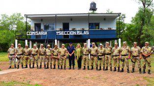 Se inauguró una nueva comisaría en las Islas de Victoria