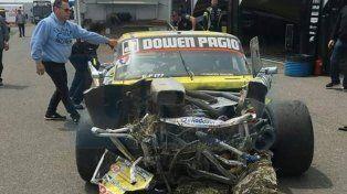 Ayrton Londero sufrió un accidente en el entrenamiento del TC Pista