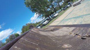 Las calles del skatepark se convirtieron en un gran estacionamiento.